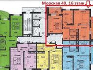 Краснодар: 2 комнатная в НСИ Юг Квартира расположена по адресу ул. Морская 49, г. Краснодар: район к/т Аврора и ТЦ Центр Города, улиц Гаражной и Аэродромной. Раз