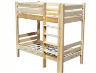Магнитогорск: Кровать взрослая двухъярусная деревянная Кровать взрослая двухъярусная деревянная. Спальное место размером 800*1900 или 900*2000 мм. Можем сделать с я